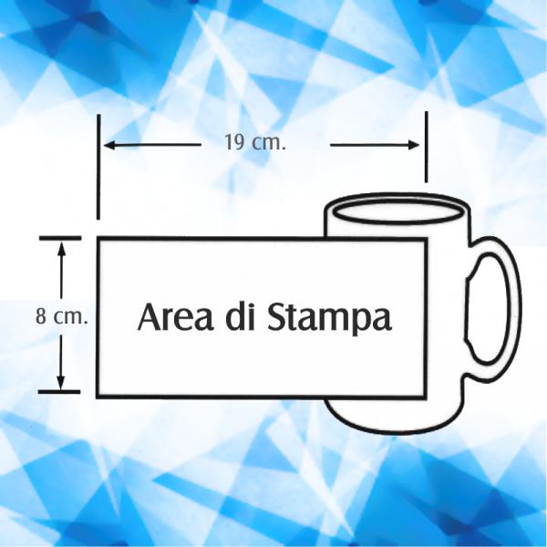 area di stampa tazza